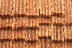 Caramel wafer dessert Stock Images
