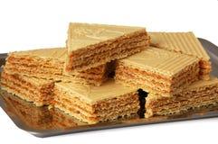 Caramel waffle Royalty Free Stock Image