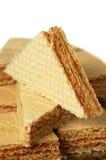 Caramel waffle Stock Images