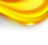 Caramel wave. Abstract  caramel wave on white background Royalty Free Stock Photos