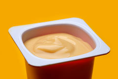 Caramel yogurt Royalty Free Stock Image