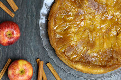 Caramelised Apple Tart Tartin Fancy Cake Pie Royalty Free Stock Photography