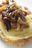 Caramelised onion starter Royalty Free Stock Photo