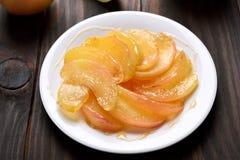 Caramelized куски яблока Стоковое фото RF
