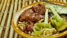 Caramelized суп лапши рамэнов свинины Стоковая Фотография RF