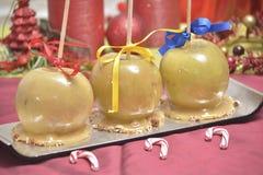 Caramelized яблоки для рождества Стоковая Фотография