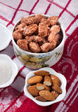 Caramelized almonds Royalty Free Stock Image