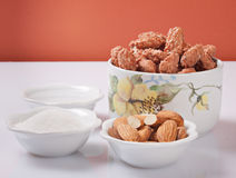 Caramelized almonds Stock Photography