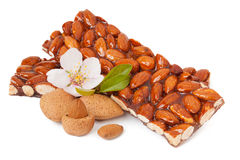 Caramelized almonds Stock Photo