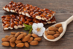 Caramelized almonds Stock Images