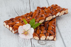Caramelized almonds Stock Photos