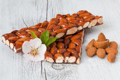 Caramelized almonds Royalty Free Stock Images