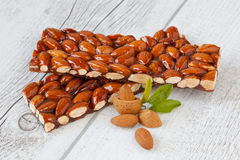Caramelized almonds Royalty Free Stock Photo