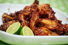 Caramelized asian chicken wings Royalty Free Stock Photography