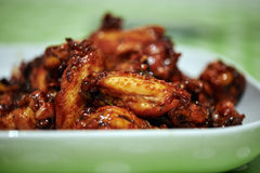 Caramelized asian chicken wings Royalty Free Stock Image
