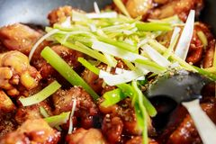 Caramelized asian chicken wings with selective focus Royalty Free Stock Photo