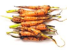 Caramelized baby carrots Stock Photos