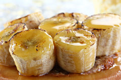 Caramelized bananas Royalty Free Stock Images