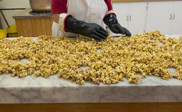 Caramelized candied popcorn Stock Photography