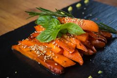 Caramelized carrots Stock Photo