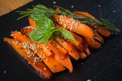 Caramelized carrots Stock Photos