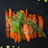 Caramelized carrots Royalty Free Stock Image