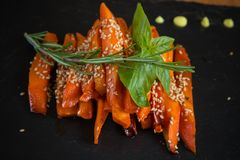 Caramelized carrots Royalty Free Stock Photos