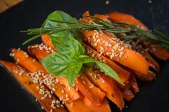 Caramelized carrots Royalty Free Stock Images