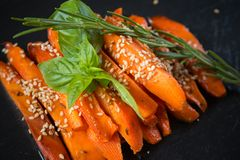 Caramelized carrots Stock Images