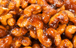 Caramelized cashew Royalty Free Stock Photo