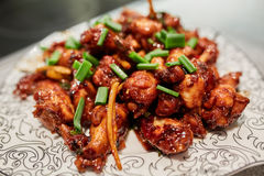 Caramelized chicken wings Royalty Free Stock Images