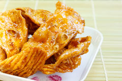 Caramelized crisps. Royalty Free Stock Image