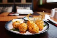 Caramelized fruits, chinese dessert Royalty Free Stock Image