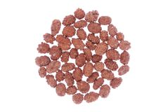 Caramelized peanuts isolated on white Royalty Free Stock Photos