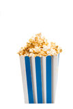 Caramelized popcorn isolated Royalty Free Stock Photography