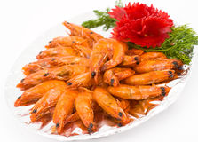 Caramelized shrimps Stock Photos