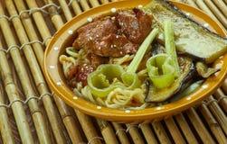 Caramelized soppa för grisköttramennudel Royaltyfria Bilder