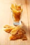 Caramelized stem ginger Royalty Free Stock Photos