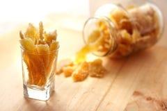 Caramelized stem ginger Stock Images