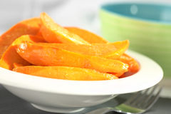 Caramelized Sweet Potato Wedges Stock Photography