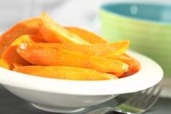Caramelized Sweet Potato Wedges Stock Photography