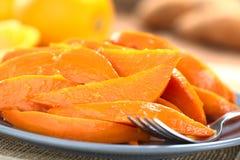 Caramelized Sweet Potato Wedges Royalty Free Stock Image