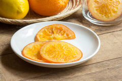 Caramella arancione Fotografia Stock Libera da Diritti
