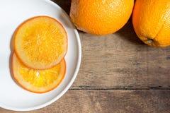 Caramella arancione Fotografia Stock