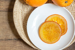 Caramella arancione Immagini Stock Libere da Diritti