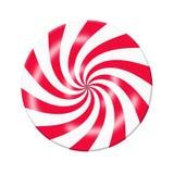 Caramella bianca rossa Fotografia Stock Libera da Diritti