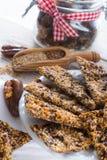 Caramella dei semi di sesamo del lino Fotografia Stock Libera da Diritti