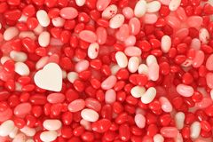 Caramella del biglietto di S. Valentino Fotografia Stock