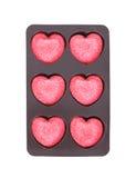 Caramella del cuore isolata su fondo bianco Immagini Stock Libere da Diritti