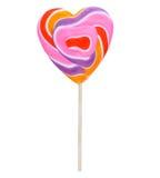 Caramella del cuore su un bastone (lecca-lecca) Immagine Stock Libera da Diritti